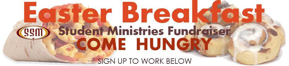 SSM Easter Breakfast Fundraiser banner