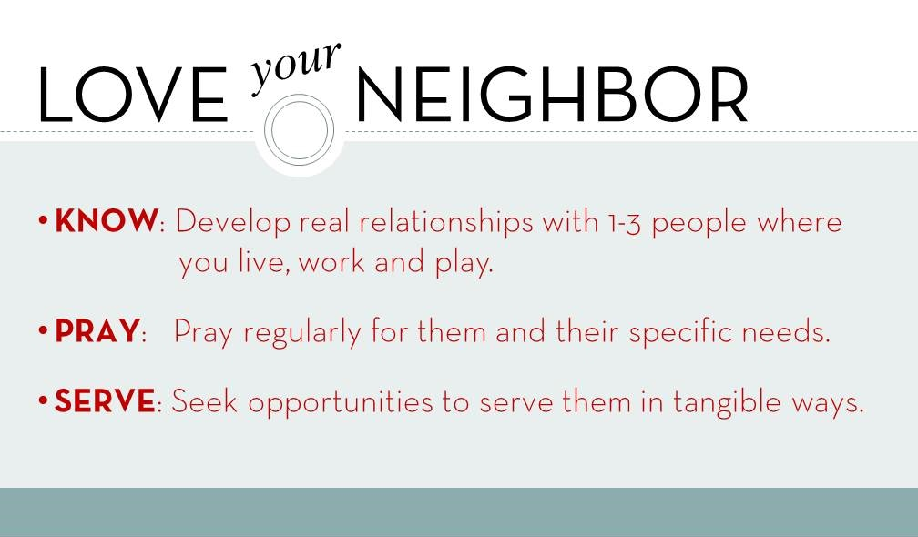love your neighbor BACK