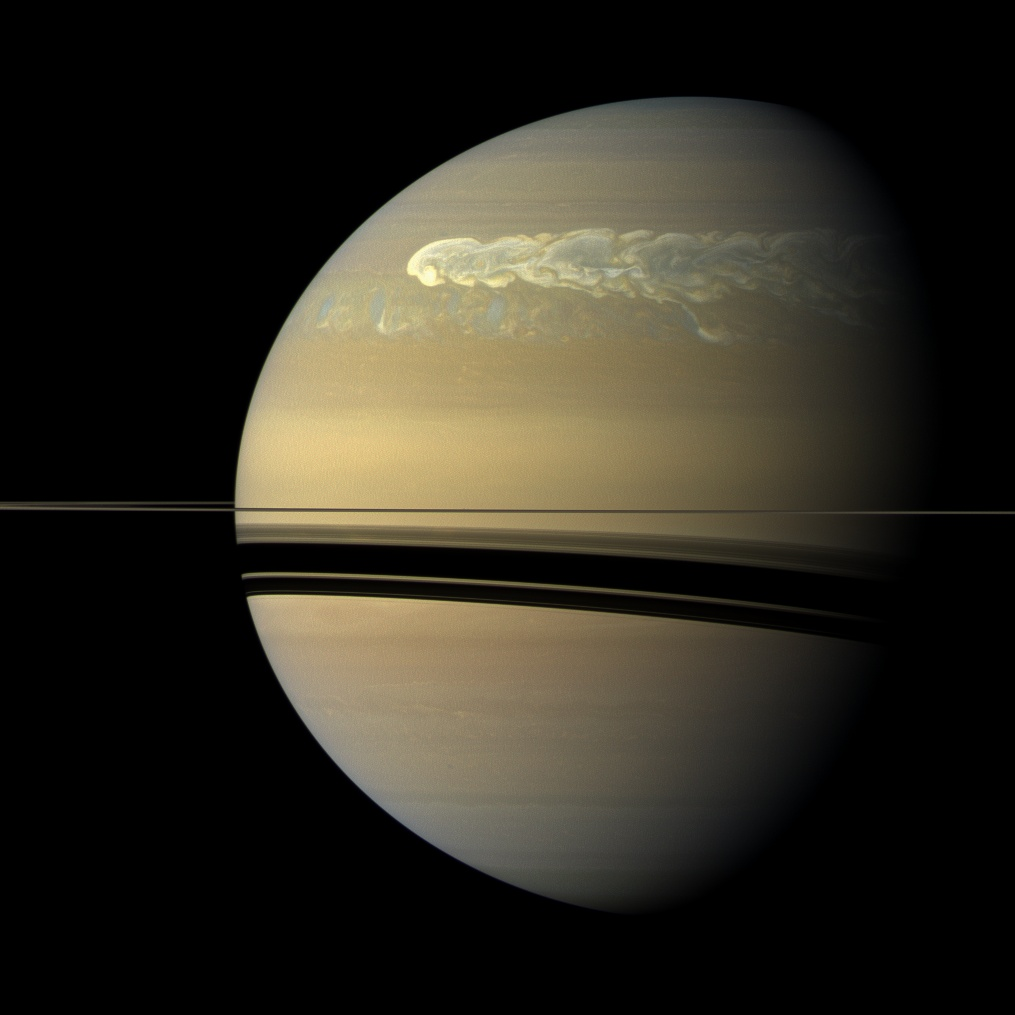 Catching Its Tail (NASA Cassini Saturn Mission Image)