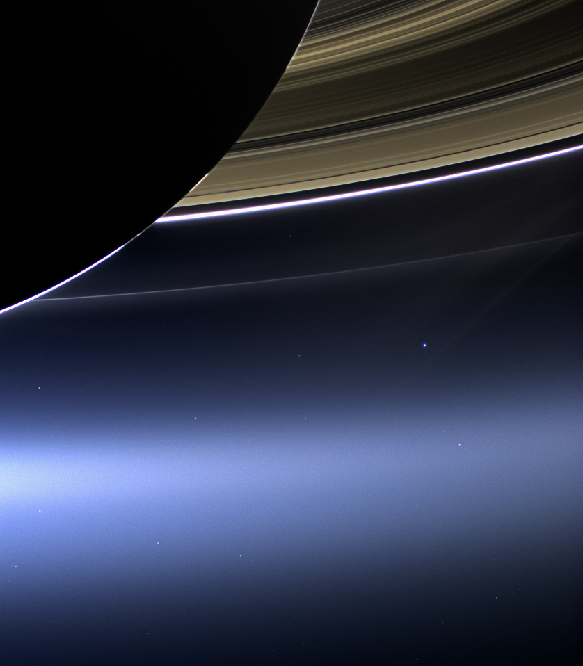 The Day the Earth Smiled: Sneak Preview (NASA Cassini Saturn Mission Image)