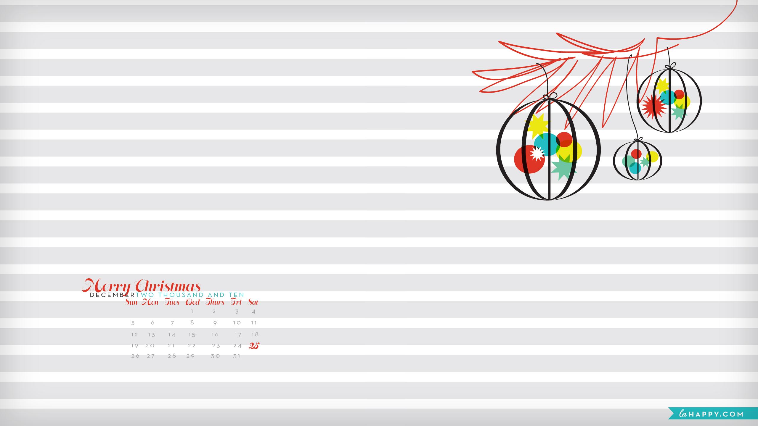 December Desktop Wallpaper  La Happy Calligraphy &amp Custom Paper Goods