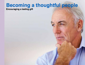 Becoming a thoughtful people