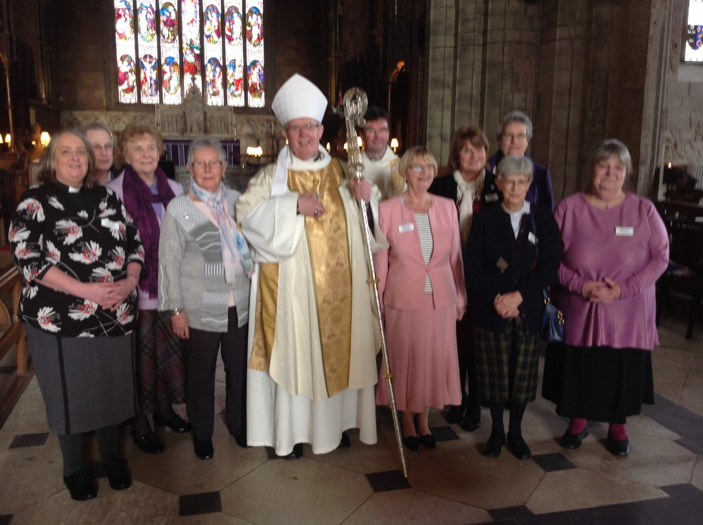 MU service St Asaph Cathedral the new board