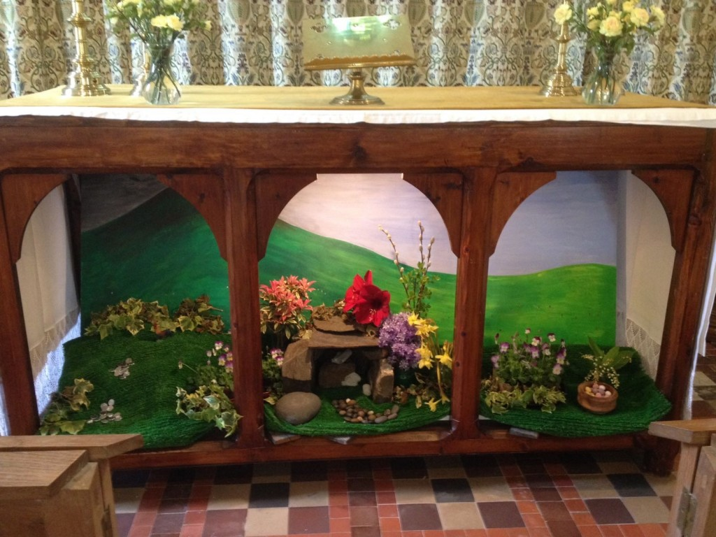 Easter garden at St Jerome's 2