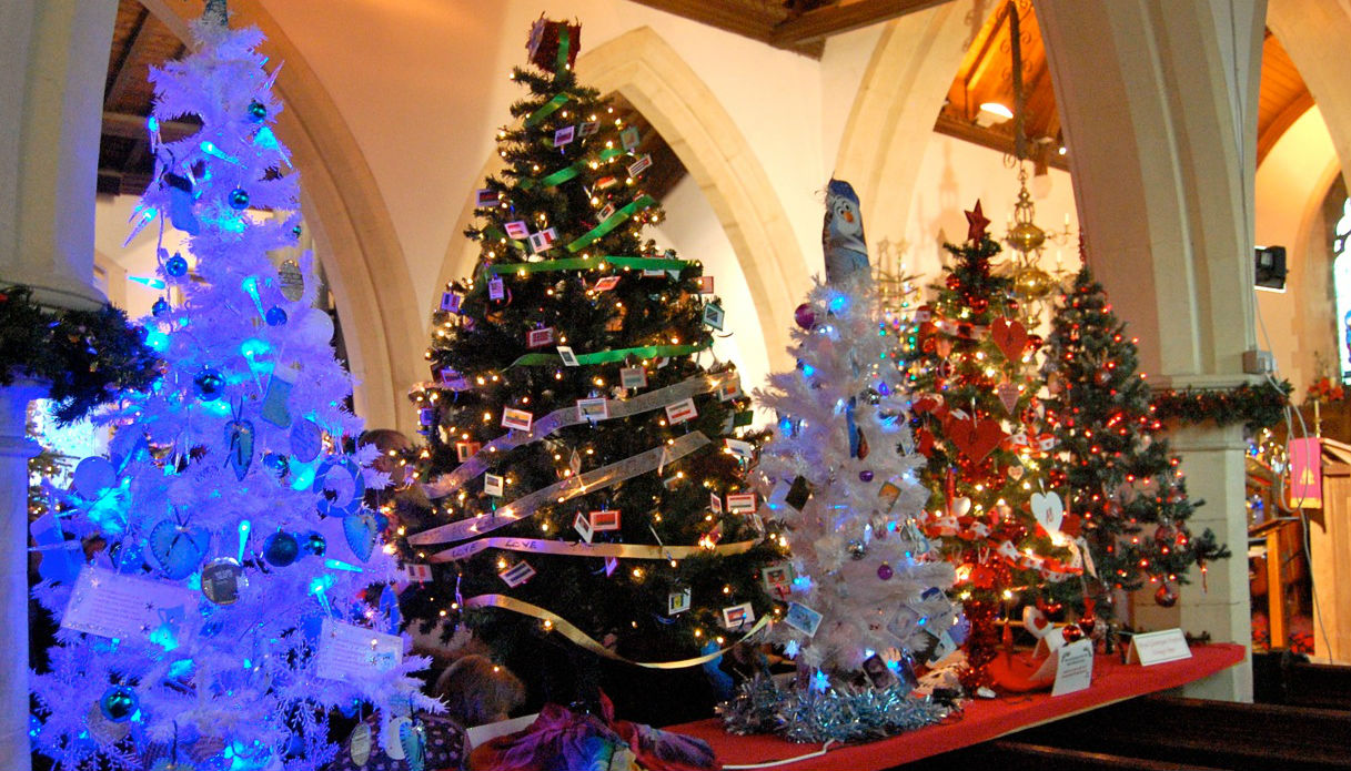 Cool Colourful Christmas Tree Festivals The Diocese Of Llandaff Easy Diy Christmas Decorations Tissureus