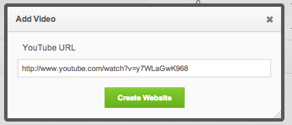 Example showing what URL to enter