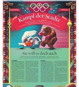 DIE ZEIT und Der Tagesspiegel veröffentlichen gemeinsame Olympia-Sonderseiten