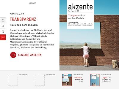 Magazin-App für akzente