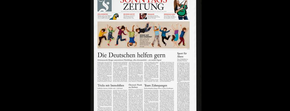 Frankfurter Allgemeine Sonntagszeitung im neuen Layout