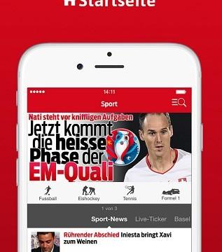 Neue Sport App der Blick-Gruppe erhältlich