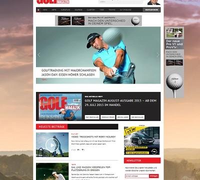 Relaunch von golfmagazin.de
