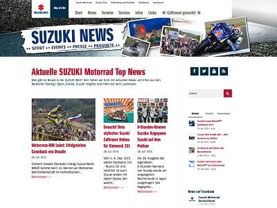 Suzuki International Europe startet Suzuki News