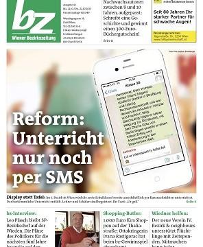 bz-Wiener Bezirkszeitung kooperiert mit Satirezeitung