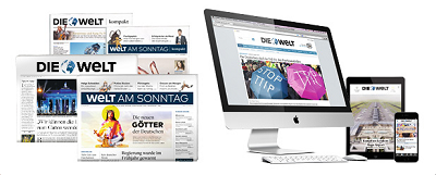 Design-Änderungen für WELT und WELT AM SONNTAG