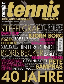 tennis MAGAZIN feiert 40-jähriges Jubiläum