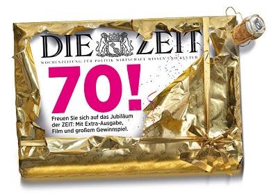 Die ZEIT feiert 70. Geburtstag