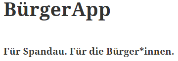 App für Spandau