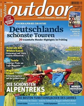 outdoor mit erweiterter April-Ausgabe und zwei Sonderheften