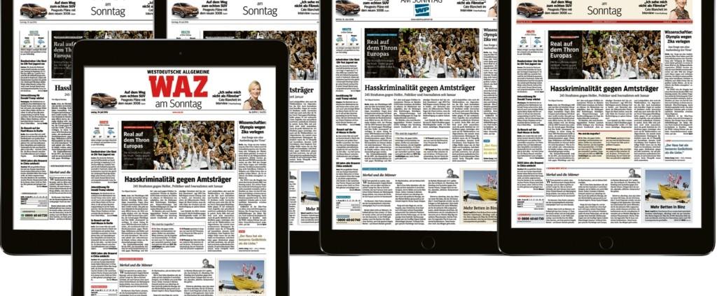 FUNKE MEDIENGRUPPE mit neuer digitaler Sonntagszeitung