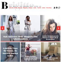 Frauenmagazin Brigitte mit neuem Design