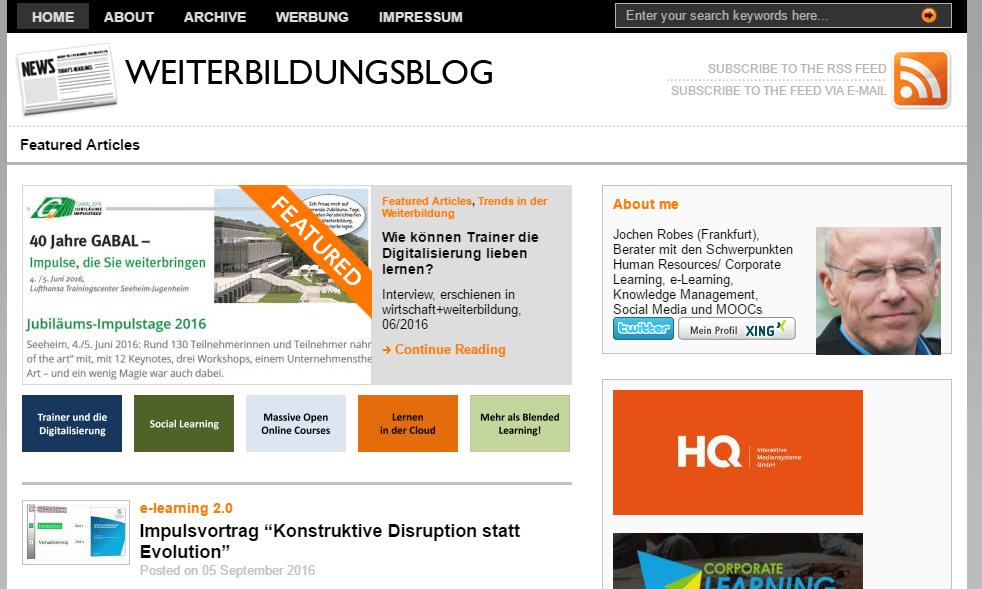 Weiterbildung - 12 Blogs aus der DACH-Region, die Sie kennen sollten