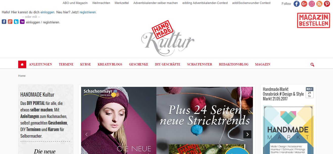 DIY - 12 deutsche Zeitschriften für Ihre kreative Ader