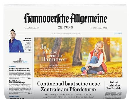 Hannoversche Allgemeine Zeitung und Neue Presse mit überarbeiteter Struktur