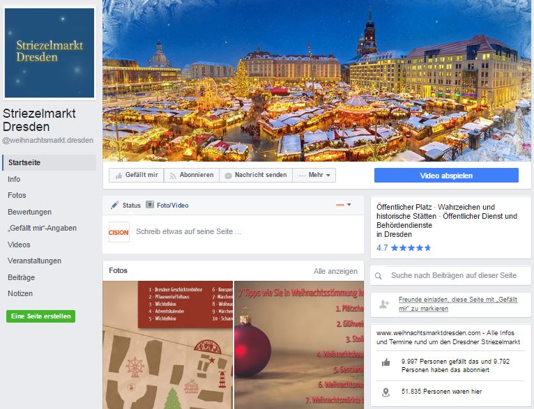 10 deutsche Weihnachtsmärkte auf Facebook für die schönste Zeit im Jahr