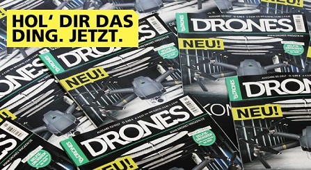 rc drones ab jetzt als Printausgabe DRONES