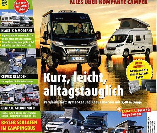 Magazin 'Campingbusse' jetzt halbjährlich erhältlich