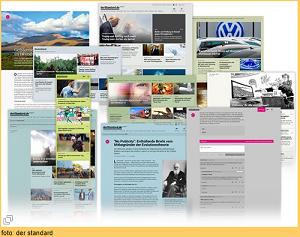 DER STANDARD mit neuer Website