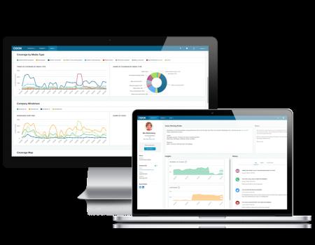 Die Cision Communications Cloud™ auf Desktop und Laptop-Screens