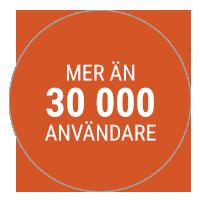Mer än 30 000 användare.