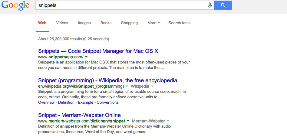 Snippets - Search Engine Optimization - Public Relations