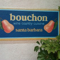 Mobile Post: Handpainted sign for Bouchon