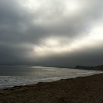 Mobile Post: Cloudy Day SB Beach