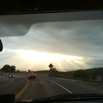 Mobile Post: God Rays from the Pass