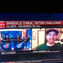 Santa Barbara Bartender Emmet Bentley Dominates Shaq Tattoo Challenge