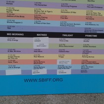 Mobile Post: SBIFF schedule for Tuesday with updates.