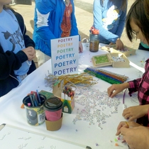 Mobile Post: Make a poem at the Poetry Booth in front of Marshall's
