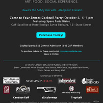 Crave: Art, Food, and Social Experience: Come to Your Senses Cocktail Party