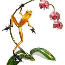 The Frogman Cometh - Bronze Frog Sculptures by Tim Cotterill