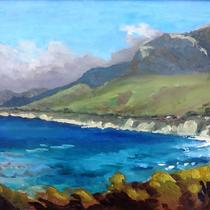 """Visions of the Gaviota Coast"" Paintings by SCAPE artists, with photography by Reeve Woolpert"
