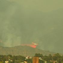 Picture: Plane Dumping Flame Retardant