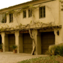 CARRIAGE HOUSE - ROBLEDAL - GEORGE WASHINGTON SMITH - ca: 1926 - HOPE RANCH, CA.