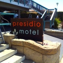 Presidio Sign Getting installed