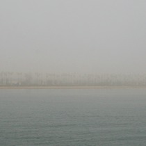 Mobile Post: Foggy Cabrillo and East Beach from the Wharf
