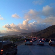 Mobile Post: Traffic into SB after holiday Monday