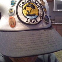 Lake Cachuma hat to be worn by life artist Bubba Ray Robison