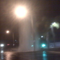 Mobile Post: Broken water main  Calle Real-La Cumbre
